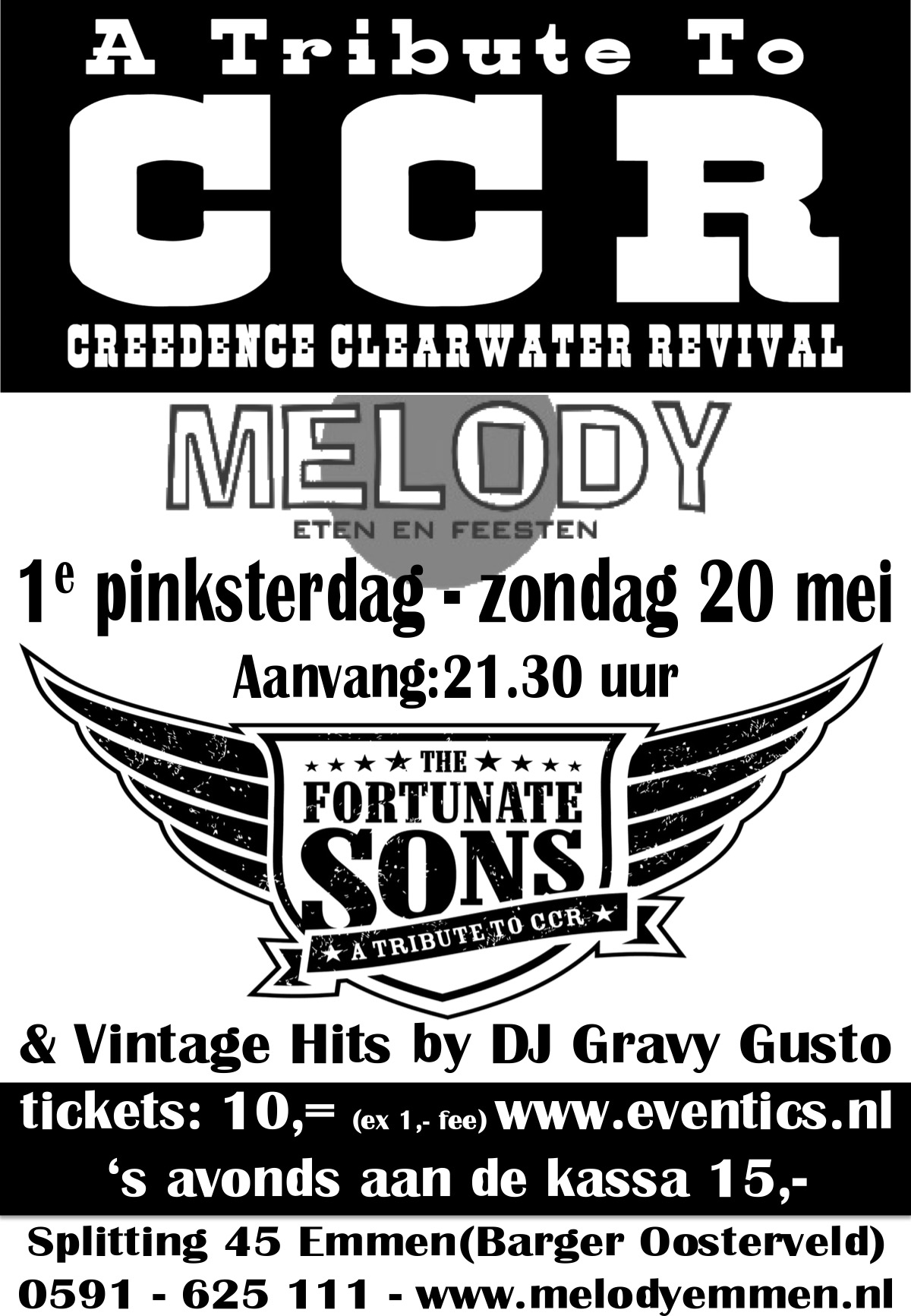 The Fortunate Sons - Tribute to CCR